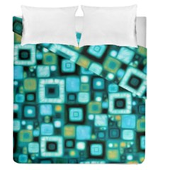 Teal Squares Duvet Cover (full/queen Size) by KirstenStar