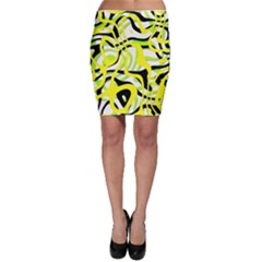 Ribbon Chaos Yellow Bodycon Skirts by ImpressiveMoments