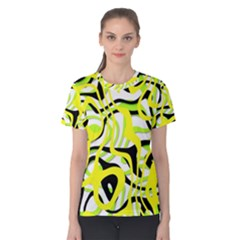Ribbon Chaos Yellow Women s Cotton Tees