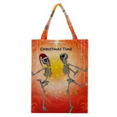 Dancing For Christmas, Funny Skeletons Classic Tote Bags