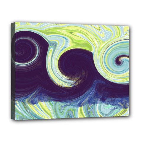 Abstract Ocean Waves Canvas 14  X 11