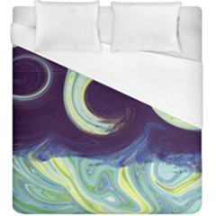Abstract Ocean Waves Duvet Cover Single Side (kingsize) by digitaldivadesigns