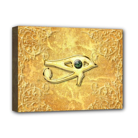 The All Seeing Eye With Eye Made Of Diamond Deluxe Canvas 16  X 12   by FantasyWorld7
