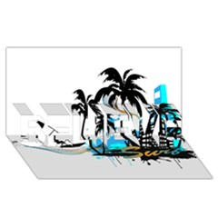 Surfing Believe 3d Greeting Card (8x4)  by EnjoymentArt
