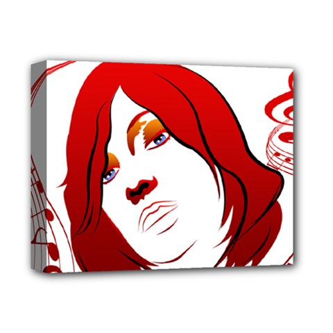 Women Face With Clef Deluxe Canvas 14  X 11  by EnjoymentArt
