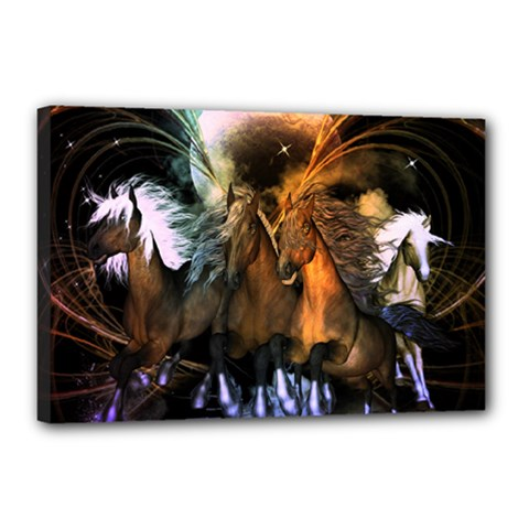 Wonderful Horses In The Universe Canvas 18  X 12