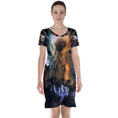 Wonderful Horses In The Universe Short Sleeve Nightdresses