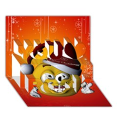 Cute Funny Christmas Smiley With Christmas Tree You Rock 3d Greeting Card (7x5)  by FantasyWorld7