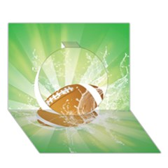 American Football  Circle 3d Greeting Card (7x5)  by FantasyWorld7