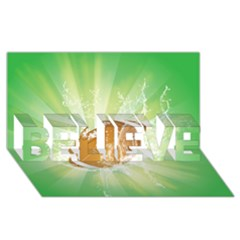 American Football  Believe 3d Greeting Card (8x4)  by FantasyWorld7