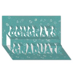Sweetie Soft Teal Congrats Graduate 3d Greeting Card (8x4)