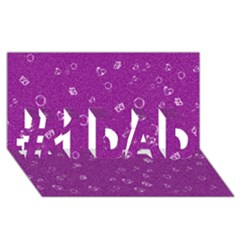 Sweetie,purple #1 Dad 3d Greeting Card (8x4)  by MoreColorsinLife