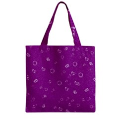 Sweetie,purple Zipper Grocery Tote Bags by MoreColorsinLife