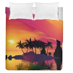 Wonderful Sunset Over The Island Duvet Cover (full/queen Size) by FantasyWorld7