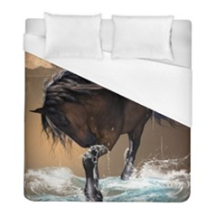 Beautiful Horse With Water Splash Duvet Cover Single Side (twin Size) by FantasyWorld7