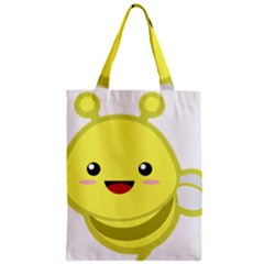 Kawaii Bee Zipper Classic Tote Bags