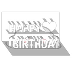 Kawaii Cloud Happy Birthday 3d Greeting Card (8x4)  by KawaiiKawaii