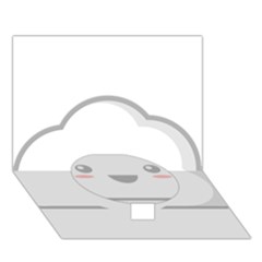 Kawaii Cloud Circle Bottom 3d Greeting Card (7x5)  by KawaiiKawaii