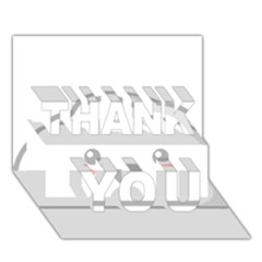 Kawaii Cloud Thank You 3d Greeting Card (7x5)  by KawaiiKawaii
