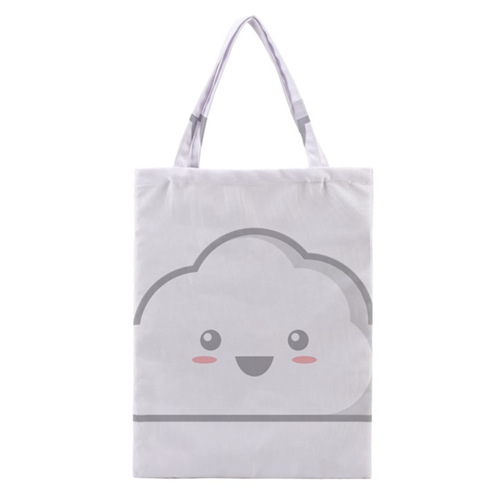 Kawaii Cloud Classic Tote Bags