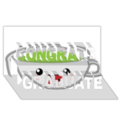 Kawaii Cup Congrats Graduate 3d Greeting Card (8x4)  by KawaiiKawaii