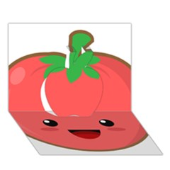 Kawaii Tomato Apple 3d Greeting Card (7x5)  by KawaiiKawaii