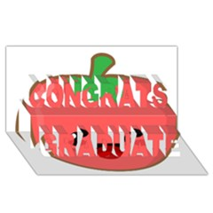 Kawaii Tomato Congrats Graduate 3d Greeting Card (8x4)  by KawaiiKawaii