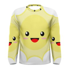 Kawaii Sun Men s Long Sleeve T Shirts