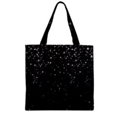Crystal Bling Strass G283 Zipper Grocery Tote Bags by MedusArt
