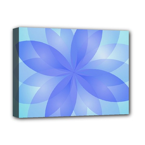 Abstract Lotus Flower 1 Deluxe Canvas 16  X 12   by MedusArt