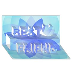 Abstract Lotus Flower 1 Best Friends 3d Greeting Card (8x4)