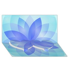 Abstract Lotus Flower 1 Twin Heart Bottom 3d Greeting Card (8x4)  by MedusArt