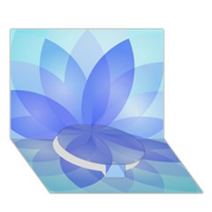 Abstract Lotus Flower 1 Circle Bottom 3d Greeting Card (7x5)  by MedusArt