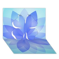 Abstract Lotus Flower 1 Clover 3d Greeting Card (7x5)  by MedusArt
