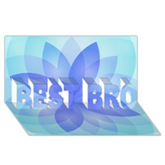 Abstract Lotus Flower 1 Best Bro 3d Greeting Card (8x4)  by MedusArt
