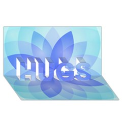 Abstract Lotus Flower 1 Hugs 3d Greeting Card (8x4)  by MedusArt