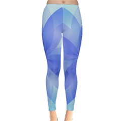 Abstract Lotus Flower 1 Winter Leggings by MedusArt