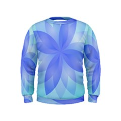 Abstract Lotus Flower 1 Boys  Sweatshirts by MedusArt