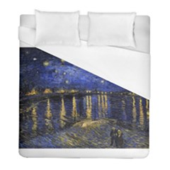Vincent Van Gogh Starry Night Over The Rhone Duvet Cover Single Side (twin Size) by MasterpiecesOfArt