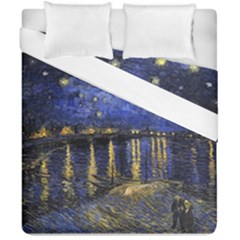 Vincent Van Gogh Starry Night Over The Rhone Duvet Cover (double Size) by MasterpiecesOfArt
