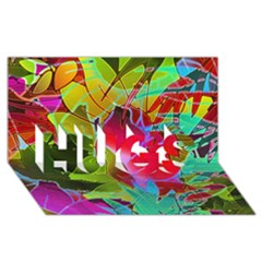 Floral Abstract 1 Hugs 3d Greeting Card (8x4)  by MedusArt