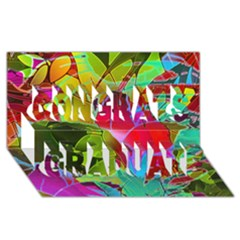 Floral Abstract 1 Congrats Graduate 3d Greeting Card (8x4)  by MedusArt