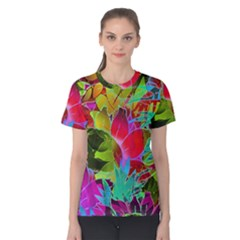 Floral Abstract 1 Women s Cotton Tees by MedusArt