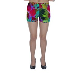 Floral Abstract 1 Skinny Shorts by MedusArt