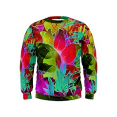 Floral Abstract 1 Boys  Sweatshirts by MedusArt