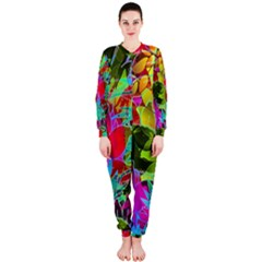 Floral Abstract 1 Onepiece Jumpsuit (ladies)  by MedusArt