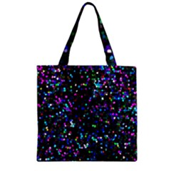 Glitter 1 Zipper Grocery Tote Bags by MedusArt