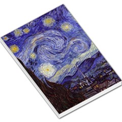 Van Gogh Starry Night Large Memo Pads by fineartgallery
