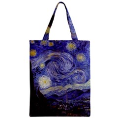 Van Gogh Starry Night Zipper Classic Tote Bags by fineartgallery