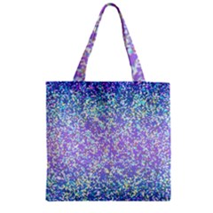 Glitter 2 Zipper Grocery Tote Bags by MedusArt